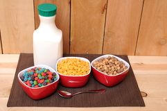Cereal and milk Royalty Free Stock Photo