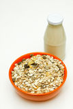 Cereal and Milk bottle Royalty Free Stock Image