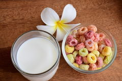 Cereal and Milk Stock Photo
