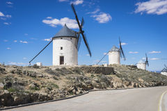Cereal mills mythical Castile in Spain, Don Quixote, Castilian l Stock Image
