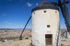 Cereal mills mythical Castile in Spain, Don Quixote, Castilian l Stock Photo