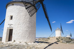 Cereal mills mythical Castile in Spain, Don Quixote, Castilian l Royalty Free Stock Photos