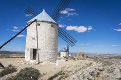 Cereal mills mythical Castile in Spain, Don Quixote, Castilian l Royalty Free Stock Photography