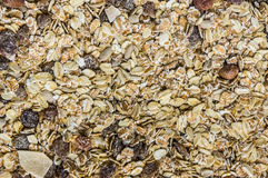 Cereal. Mix cereal with nut, oat, barley, banana, and raisins Royalty Free Stock Photos