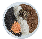 Cereal mixture Royalty Free Stock Photos