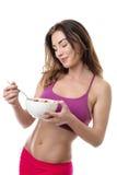Cereal moreno bonito comer Imagens de Stock Royalty Free