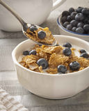 Cereal. Morning breakfast of cereal and fresh fruit Stock Images
