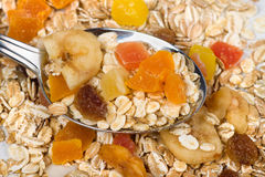 Cereal muesli with dried fruit Stock Photography