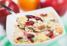 Cereal muesli with dried fruit Royalty Free Stock Images