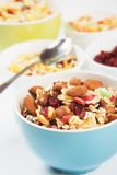 Cereal muesli with dried fruit Stock Image