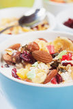 Cereal muesli with dried fruit and nuts Royalty Free Stock Photo
