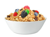 Cereal muesli and fruit Royalty Free Stock Images