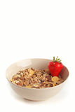 Cereal muesli with strawberry Stock Images