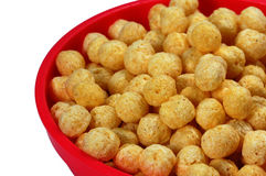 Cereal in plastic bowl - close-up Royalty Free Stock Photo