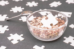 Cereal puzzle Stock Images