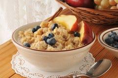 Cereal quente da farinha de aveia imagem de stock