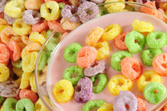 Cereal rings. Royalty Free Stock Photos