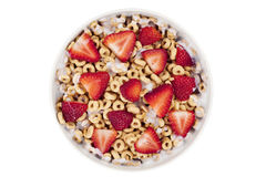 Cereal rings with berries Stock Photography