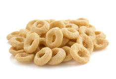 Free Cereal Rings  On White Royalty Free Stock Photography - 48464147