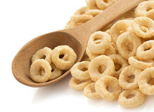Cereal rings  on white Stock Photo
