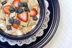 Cereal Shredded do trigo fotografia de stock royalty free