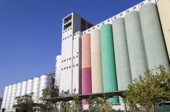 Cereal silos Royalty Free Stock Photos