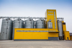 Cereal silos Royalty Free Stock Images