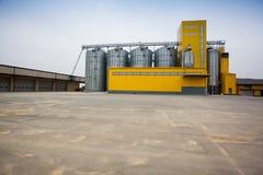 Cereal silos Stock Photos