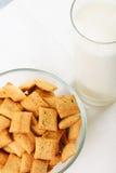 Cereal snacks in bowl Stock Photo