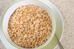Cereal soplado del arroz Imagenes de archivo