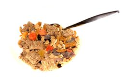 Cereal with a spoon Royalty Free Stock Images