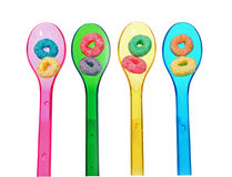 Cereal spoons Stock Photography