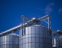 Cereal Storage Silo Royalty Free Stock Photography