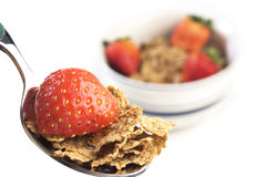 Cereal with Strawberries Royalty Free Stock Photo