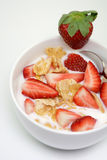 Cereal with strawberries Stock Photography