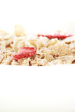 Cereal with strawberries Stock Image