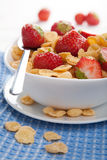Cereal with strawberry Royalty Free Stock Images