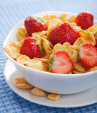 Cereal with strawberry Stock Images