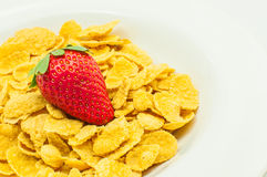 Cereal with strawberry Stock Image