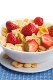 Cereal with strawberry isolated Royalty Free Stock Image