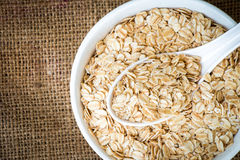 Cereal in white bowl Royalty Free Stock Photography