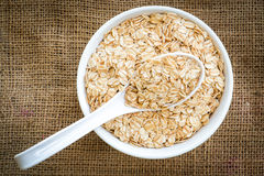 Cereal in white bowl Royalty Free Stock Image