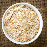 Cereal in white bowl Royalty Free Stock Photos