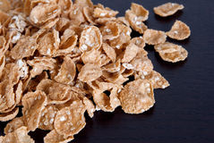 Cereal - wholegrain oat and wheat flakes Royalty Free Stock Photography