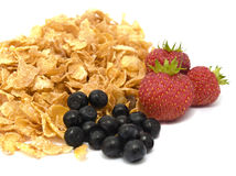 Cereal y frutas frescas Imagen de archivo