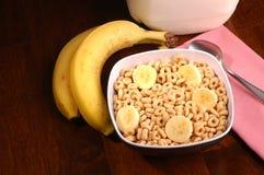 Cereal y plátanos Imagen de archivo libre de regalías