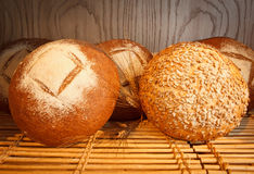 Cereal and yeast bread royalty free stock photo