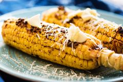 Cereale al forno con le erbe e la paprica affumicata Fotografie Stock Libere da Diritti