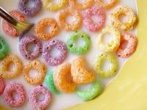 Cereale al gusto di frutta della o Immagine Stock