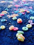 Cereale al neon Fotografia Stock
